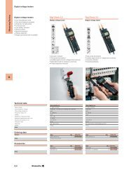 G.6 Digital voltage testers Technical data Digi-Check 5.2 Ordering ...
