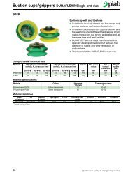 Suction cups/grippers DURAFLEX® Single and dual - Puerto Rico ...