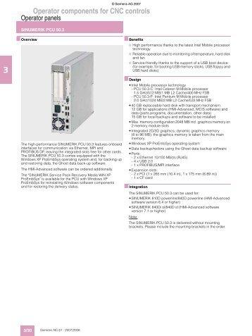 Operator components for CNC controls - Puerto Rico Suppliers .com