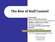 The Rise of Staff Counsel - HB Litigation Conferences