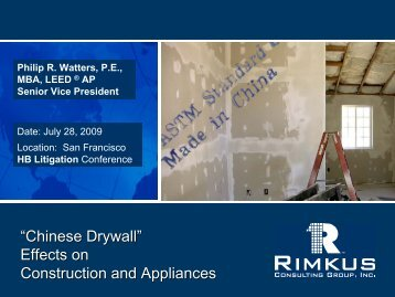 """""""Chinese Drywall """""""" Effects on Construction and Appliances"""