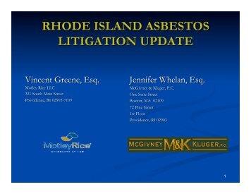 Rhode Island Asbestos Litigation - HB Litigation Conferences