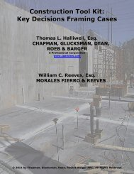 Construction Tool Kit: Key Decisions Framing Cases - HB Litigation ...