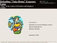 "Defending ""Take-Home"" Exposure Cases - HB Litigation Conferences"