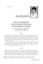 jonas solsberietis apie politinę filosofiją ir filosofijos istoriją - Logos