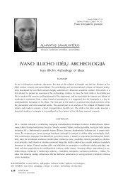 Ivano Illicho idėjų archeologija (tęsinys) - Logos