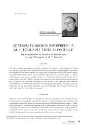įstatymų funkcijos interpretacija mp foucault teisės filosofijoje - Logos