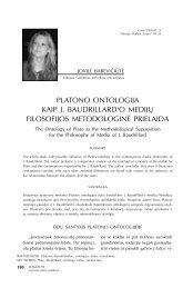 platono ontologija kaip j. baudrillard'o medijų filosofijos ... - Logos