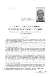xx a. pradžios katalikiškojo modernizmo atgarsiai lietuvoje - Logos