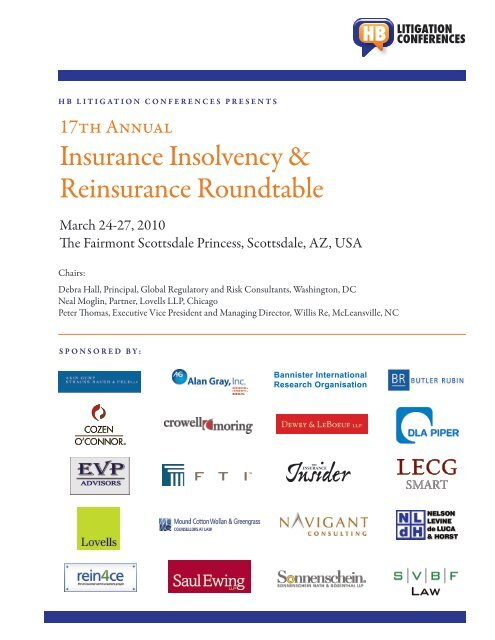 17th Annual Insurance Insolvency Reinsurance Roundtable