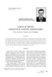 LAIKAS IR ERDVĖ: ARISTOTELIS, KANTAS, HEIDEGGERIS - Logos
