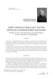 teisės vaidmuo išsaugant tautinį tapatumą globalizacijos ... - Logos