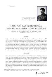 Literatūra kaip medijų sistema arba kas yra medija Mariui ... - Logos