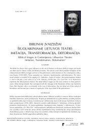 Bibliniai įvaizdžiai šiuolaikiniame Lietuvos teatre: imitacija ... - Logos