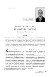 DIALEKTIKA PLATONO IR KANTO FILOSOFIJOJE - Logos