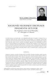 socialinės filosofijos disciplinos fragmentai lietuvoje - Logos