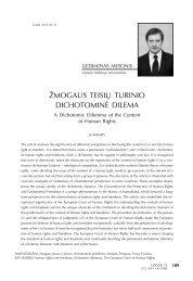 ŽMOGAUS TEISIŲ TURINIO DICHOTOMINĖ DILEMA - Logos