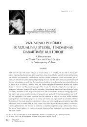 vizualinio posūkio ir vizualinių studijų fenomenas ... - Logos