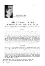 EGIdIJUS RomIEtIS: valdymo IR aSmEnybĖS UGdymo ... - Logos