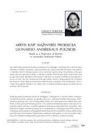 mirtis kaip amžinybės projekcija leonardo andriekaus ... - Logos