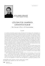 Užuojautos samprata Gramatologijoje - Logos