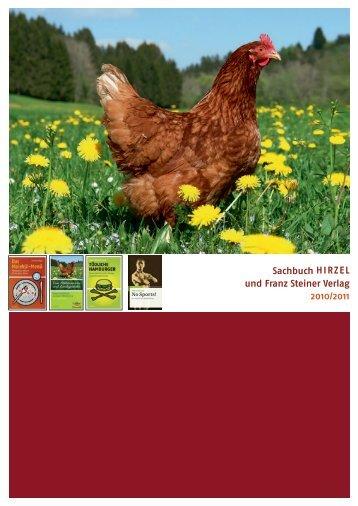 Sachbuch H i r z e l und Franz Steiner Verlag 2010/2011