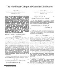 The Multilinear Compound Gaussian Distribution - The University of ...