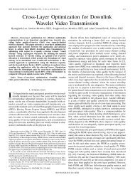 Cross-Layer Optimization for Downlink Wavelet Video Transmission