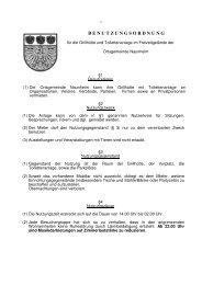 Benutzungsordnung Grillhütte vom 25.01.2007