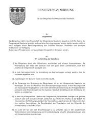 080 Benutzungsordnung Bürgerhaus Naunheim 23.08.2006