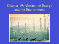 Chapter 19: Alternative Energy and the Environment