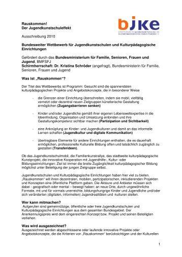 Ausschreibung - LJKE Bayern