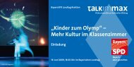 Einladungsschreiben Talk im Max - LJKE Bayern