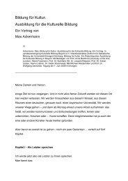 """Schlussstatement von Max Ackermann: """"Bildung für ... - LJKE Bayern"""