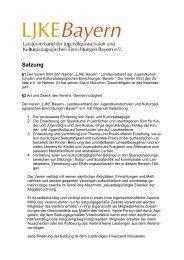Satzung - LJKE Bayern