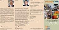 Infoflyer Preis des Handwerks - LJKE Bayern