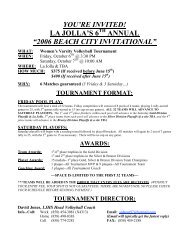 Tournament Flyer - La Jolla High School