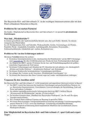 Profitieren Sie von starken Partnern - Bayerischer Reit