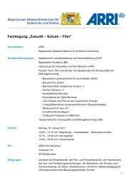 """Fachtagung """"Zukunft – Schule – Film"""" - LJKE Bayern"""