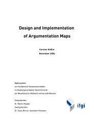 Design and Implementation of Argumentation Maps - Carsten Keßler