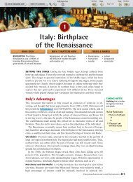 Italy: Birthplace of the Renaissance - Immaculateheartacademy.org