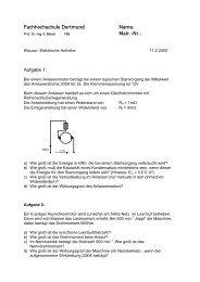 EA-Klausuren - Fachhochschule Dortmund