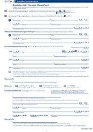 Bestellschein für eine CleverCard - LNVG