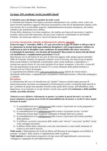Il processo valutativo (R.Bortone) - Cidi