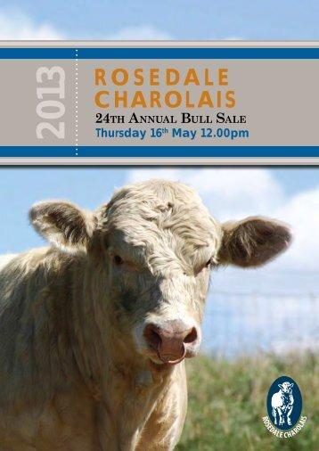 Click Here for Sale Catalogue - Rosedale Charolais Stud