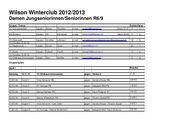 Wilson Winterclub 2012/2013