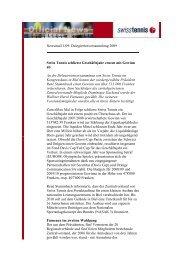 Newsmail 1/09: Delegiertenversammlung 2009 Swiss Tennis ...