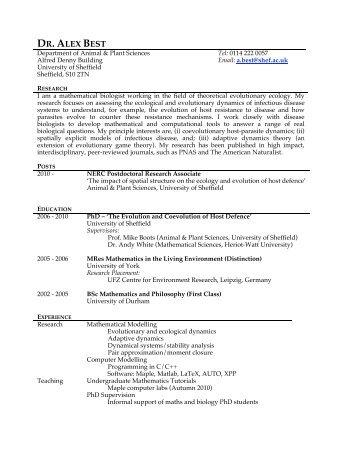 alex best aps group index page university of sheffield