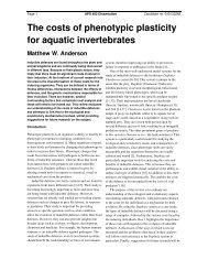 The costs of phenotypic plasticity for aquatic invertebrates