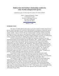 Multivariate bird-habitat relationships models for some Northern ...